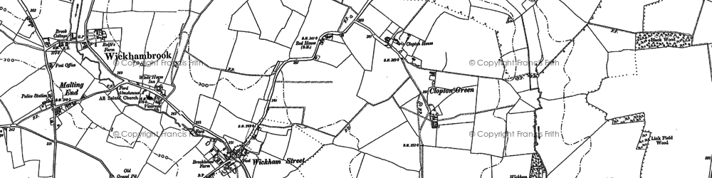 Old map of Wickham Ho in 1884