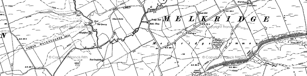 Old map of Allery Burn in 1895