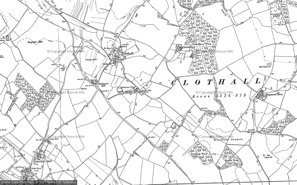 Old Map of Historic Map covering Toggs in 1896