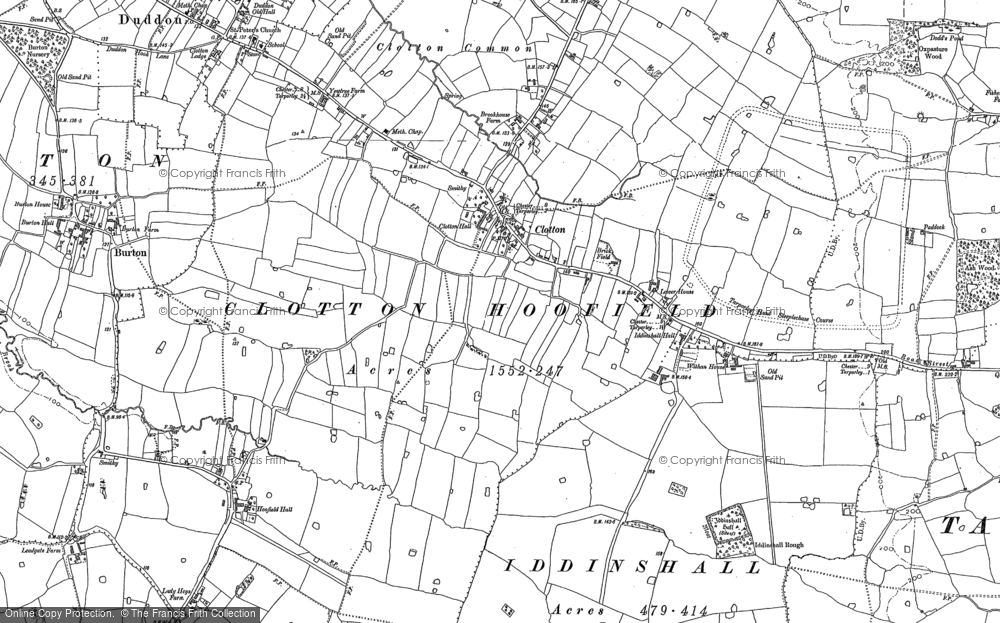 Old Map of Historic Map covering Ash Hill Ho in 1897