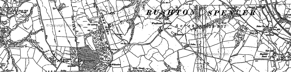 Old map of Woodhouse Green in 1897