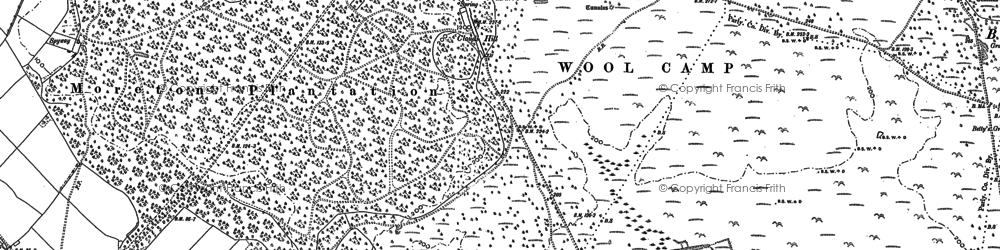 Old map of Tonerspuddle Heath in 1886