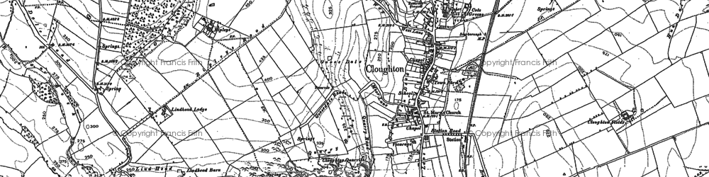 Old map of Cloughton in 1910
