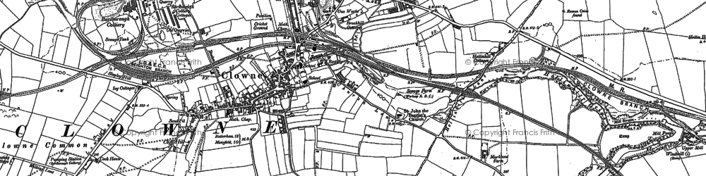 Old map of Clowne in 1884