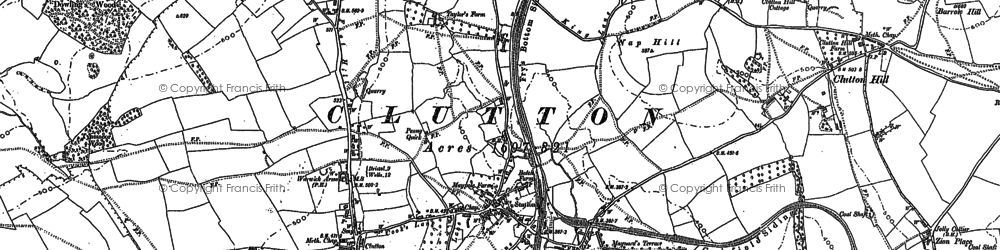 Old map of Breach in 1883
