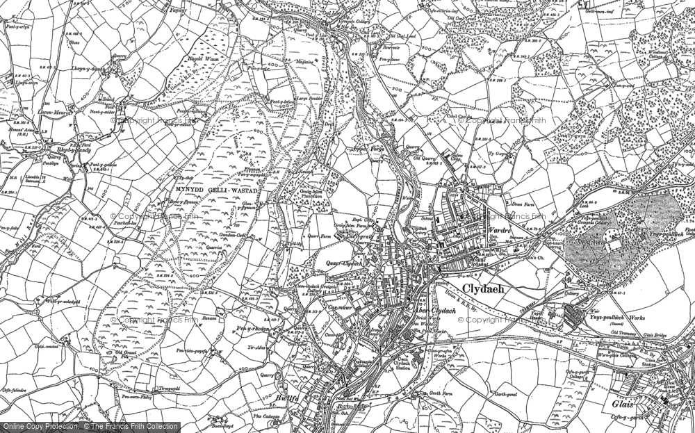 Old Map of Clydach, 1897 in 1897