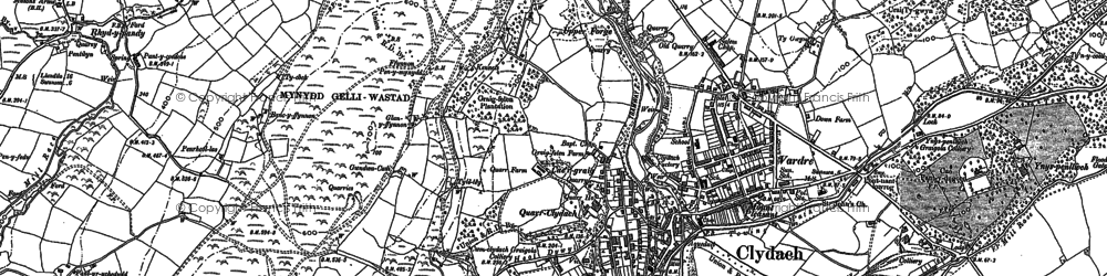 Old map of Clydach in 1897