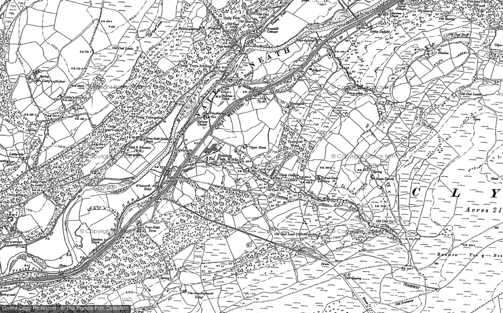 Old Map of Clyne, 1897 in 1897