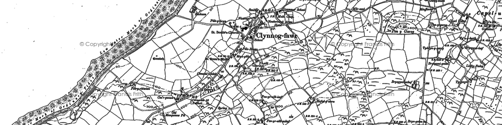 Old map of Yr Allt in 1899