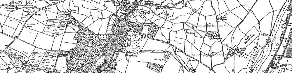 Old map of Bronydd in 1887