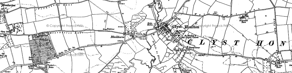 Old map of Wroford Manor in 1887