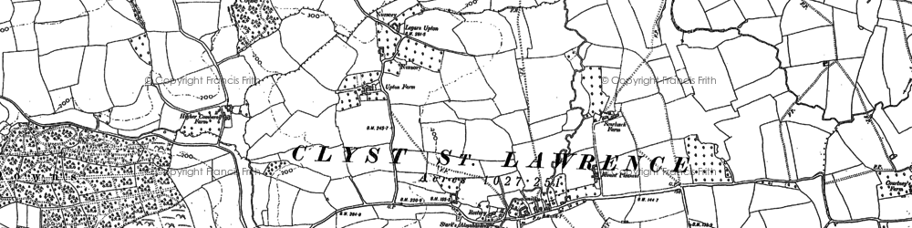 Old map of Ashclyst Forest in 1887