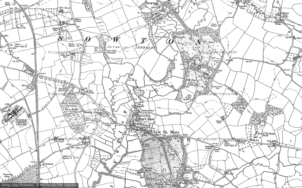 Old Maps of Clyst St Mary Francis Frith