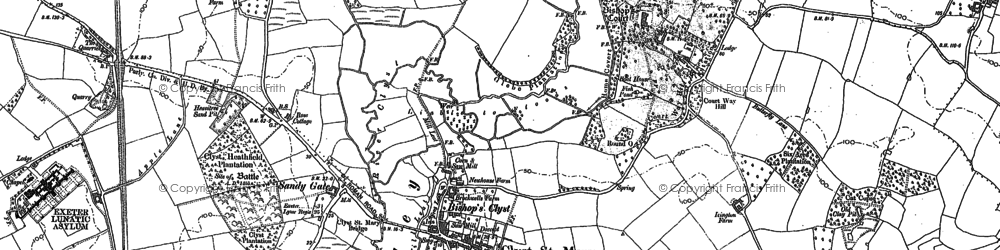 Old map of Winslade Park in 1887
