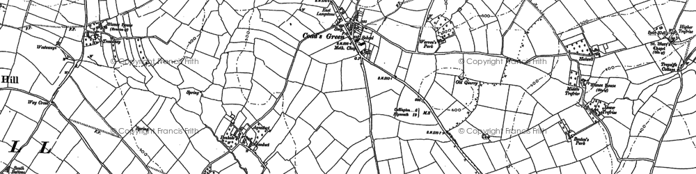 Old map of Lanoy in 1882