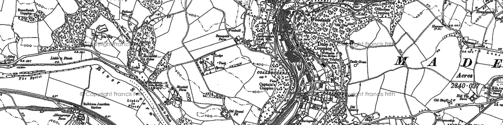 Old map of Coalbrookdale in 1882