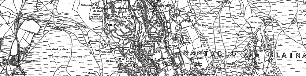 Old map of Coalbrookvale in 1879