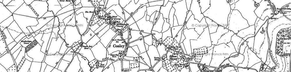Old map of Ashmead Ho in 1882