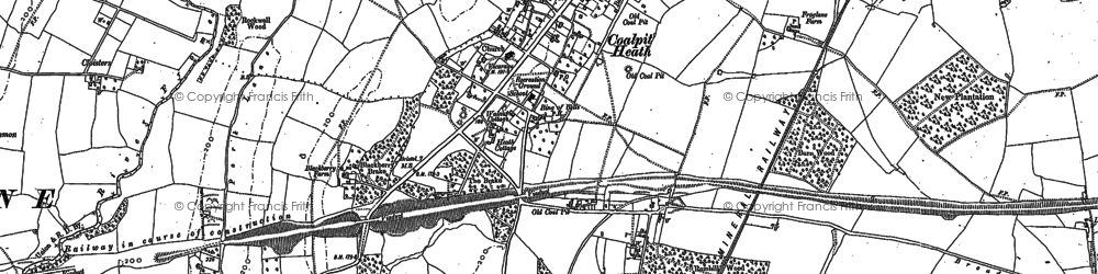 Old map of Coalpit Heath in 1881