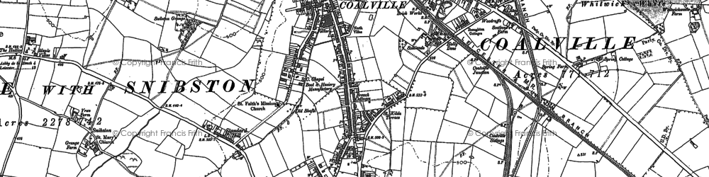 Old map of Coalville in 1885