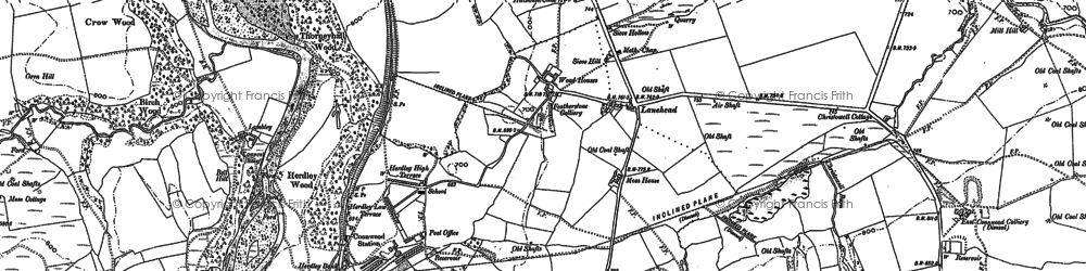 Old map of Ashholme in 1895