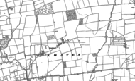 Old Map of Coates, 1885