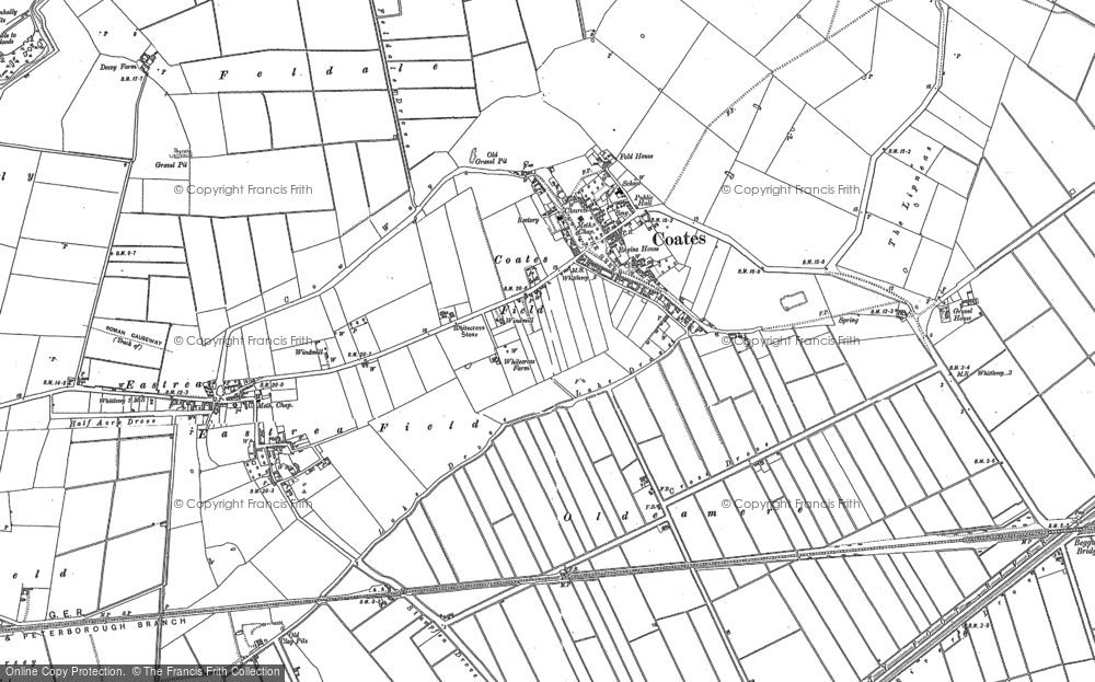 Old Map of Coates, 1886 - 1901 in 1886