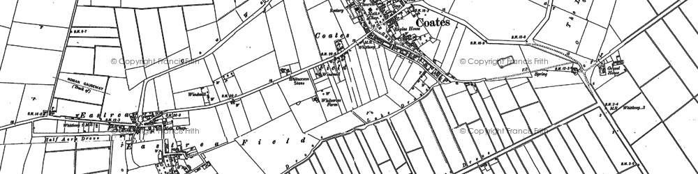 Old map of Whitecross Stone in 1886