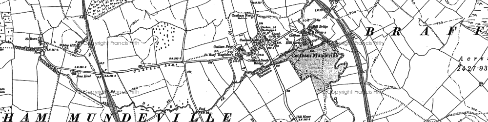 Old map of Beaumont Hill in 1896