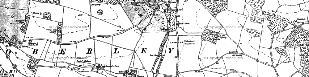 Old map of Coberley in 1883