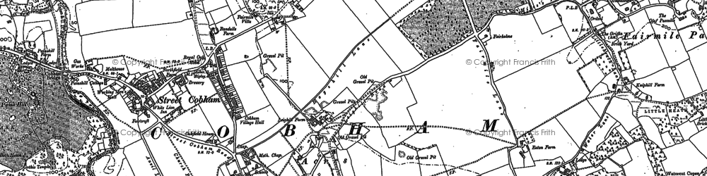 Old map of Fairmile in 1894