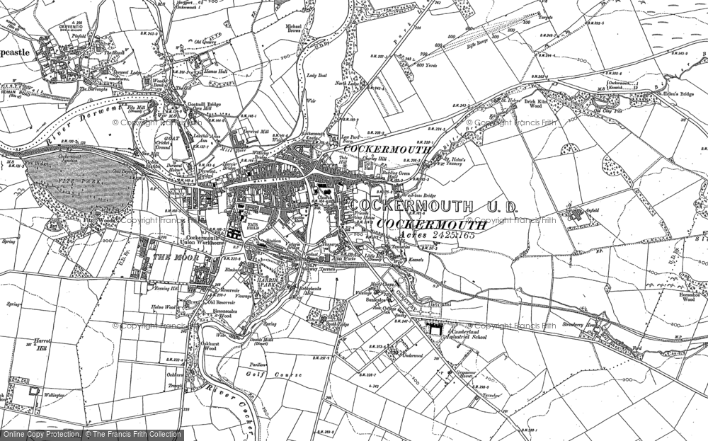 Old Map of Cockermouth, 1898 - 1899 in 1898