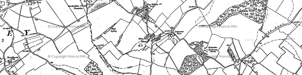 Old map of Cockernhoe in 1879