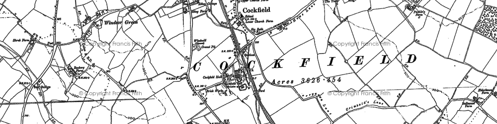 Old map of Windsor Green in 1884