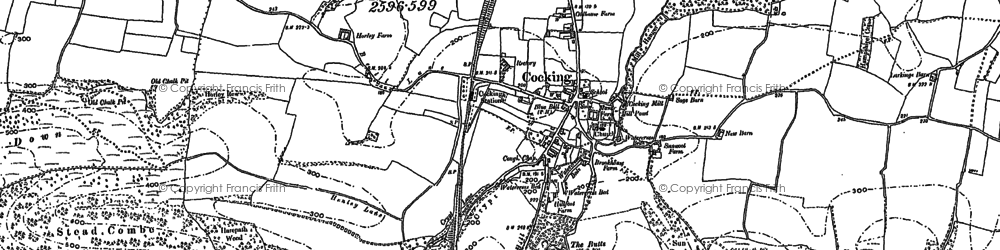 Old map of Cocking in 1896