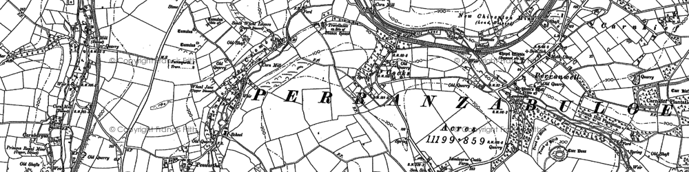 Old map of Penwartha Coombe in 1906