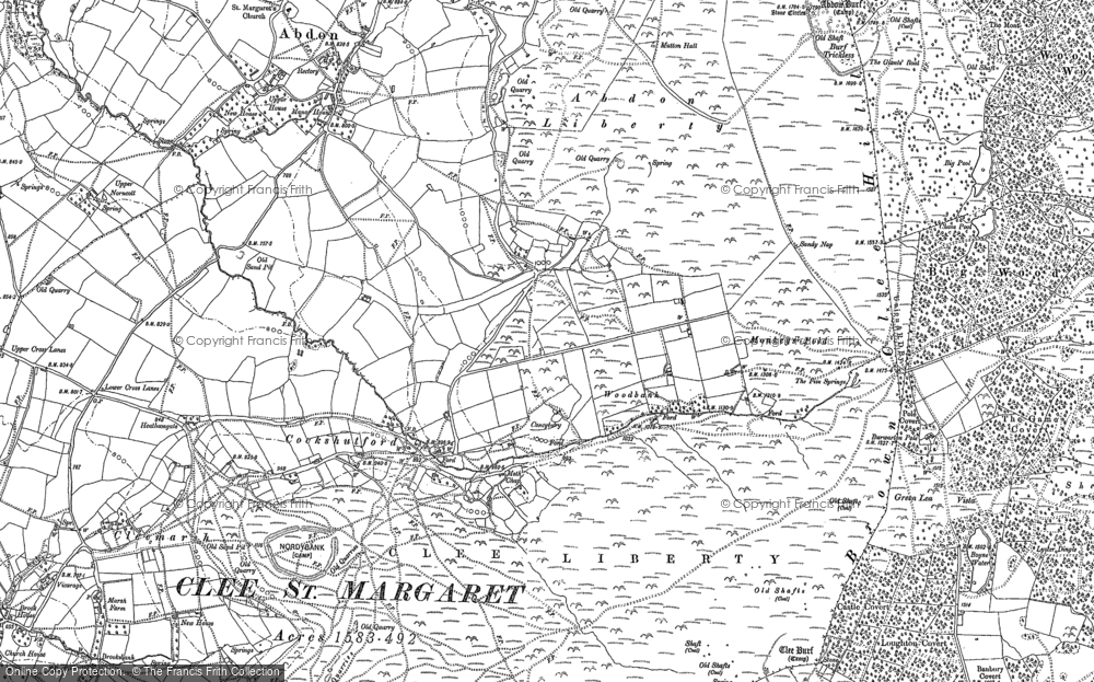 Old Map of Historic Map covering Woodbank in 1883
