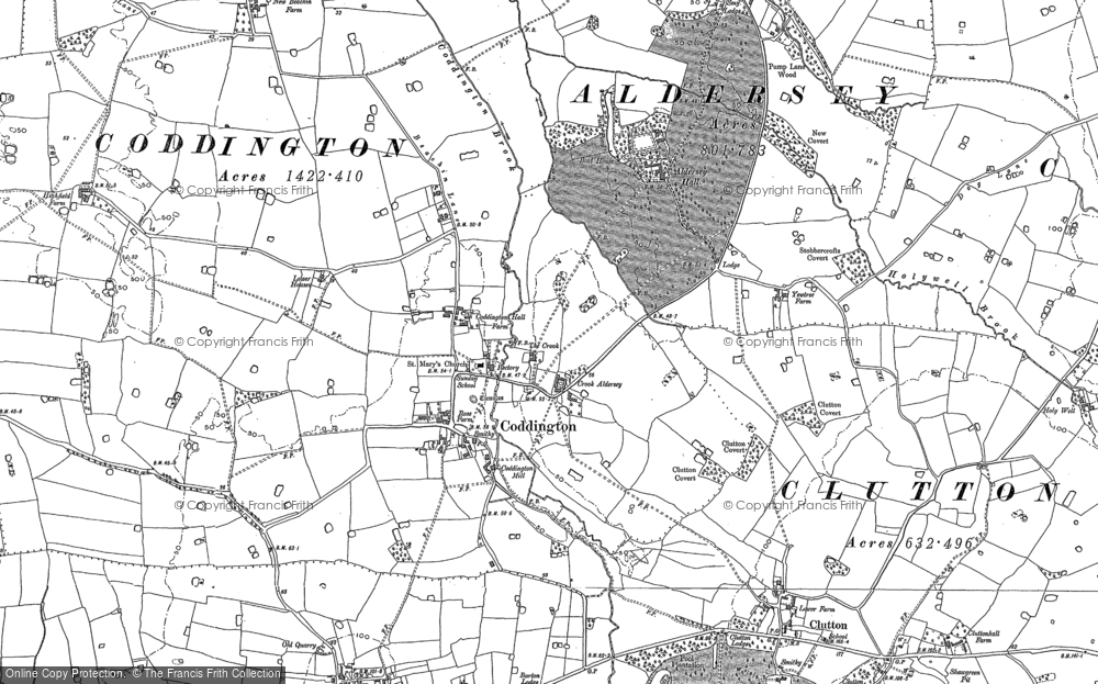 Old Map of Historic Map covering Aldersey Park in 1897