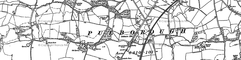 Old map of Toat Monument in 1895