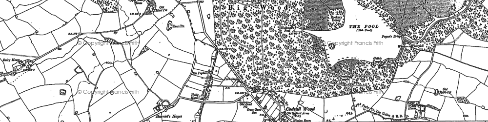 Old map of Wood Ho, The in 1881
