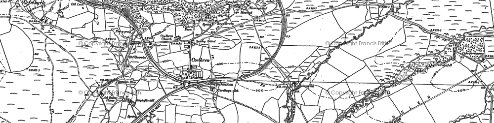 Old map of Tonspyddaden in 1903