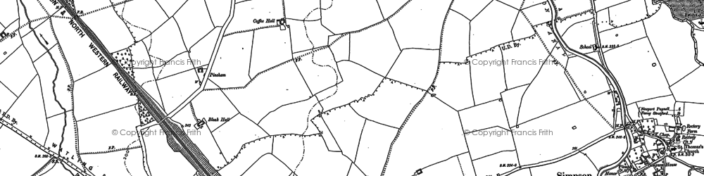 Old map of Coffee Hall in 1924