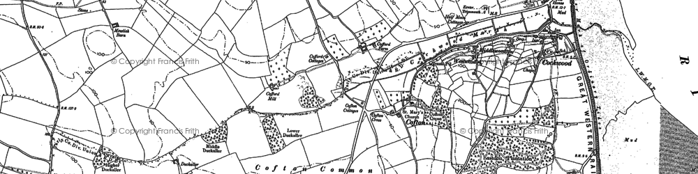 Old map of Cofton in 1904