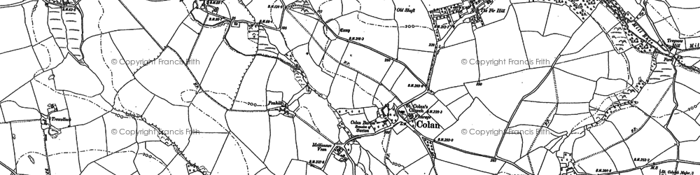 Old map of Colan in 1880