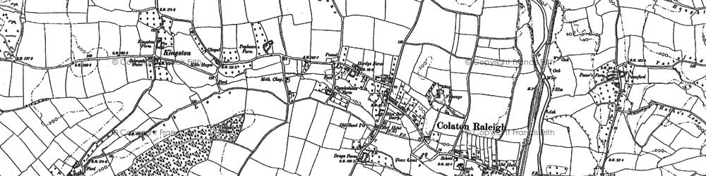Old map of Baker's Brake in 1888