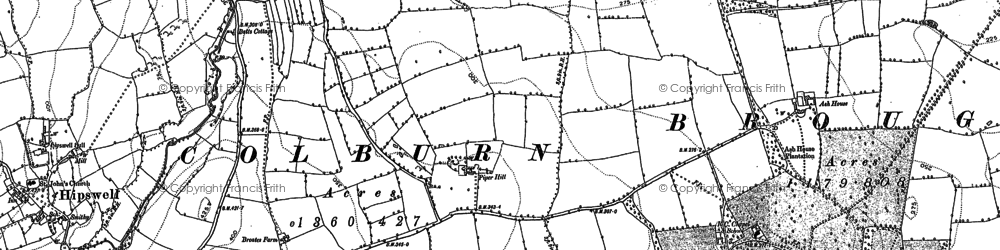 Old map of Colburn in 1891