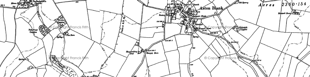 Old map of Aston Grove in 1883