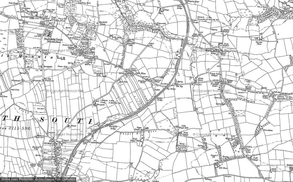Old Map of Historic Map covering Woods Cross in 1887