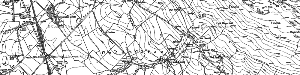 Old map of Whinney Mire in 1907