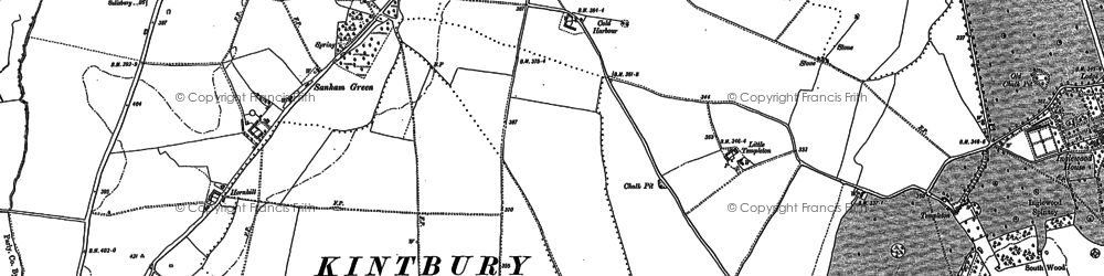 Old map of Anvilles in 1899